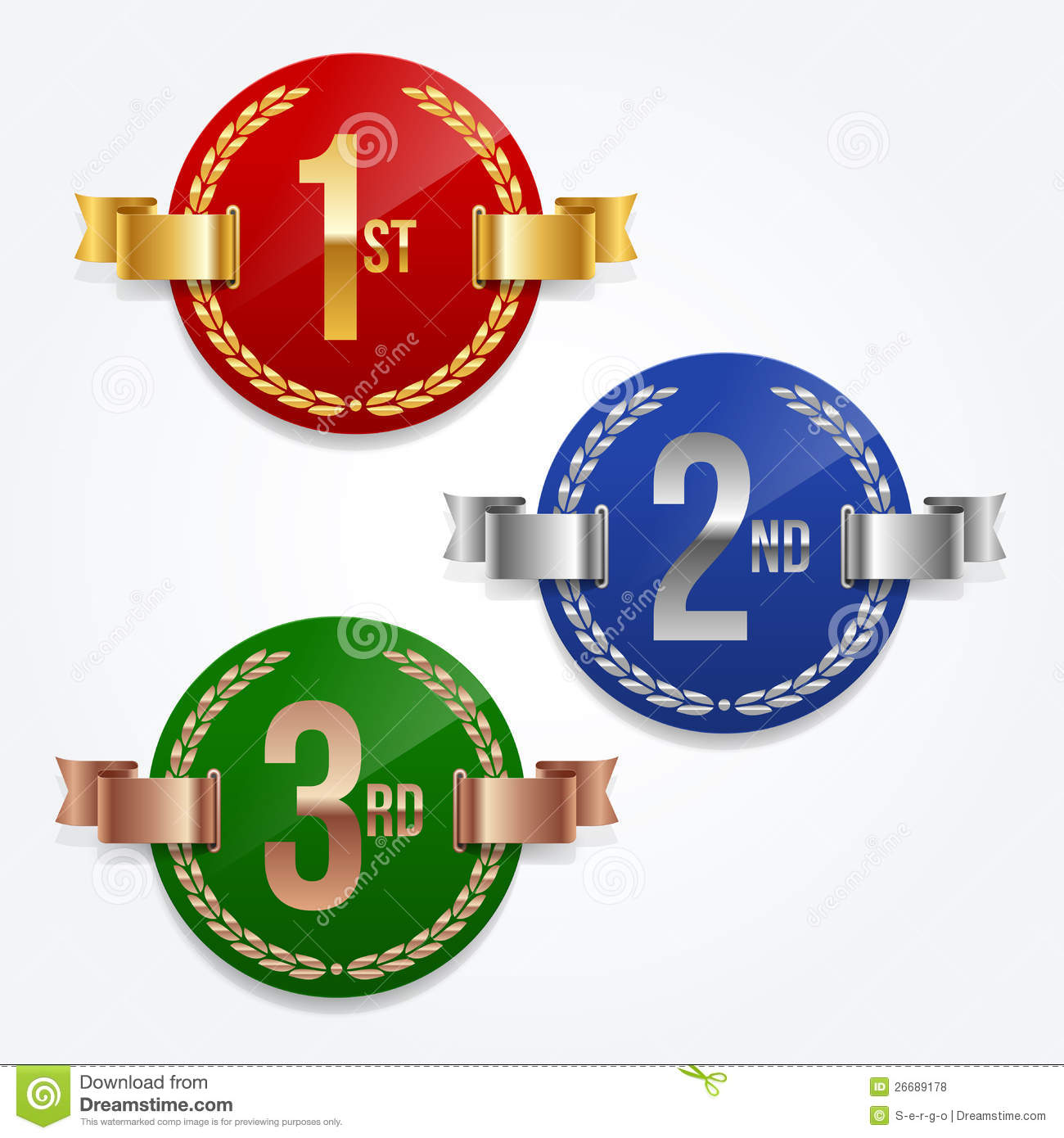 1st  2nd  3rd Awards Emblems Royalty Free Stock Photos   Image