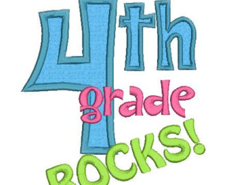 4th Grade Boy Clipart 4th Grade Rocks Applique