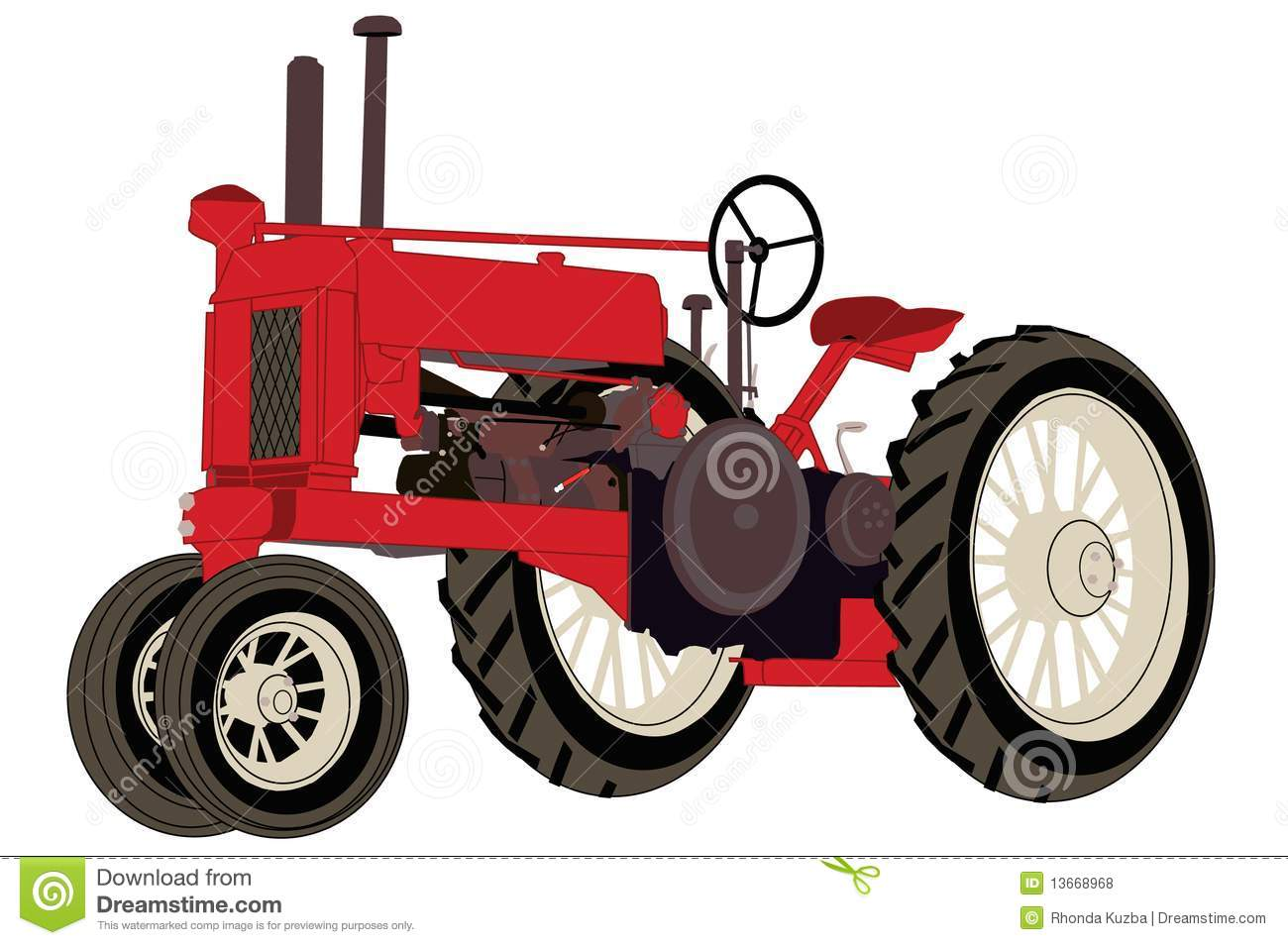 Antique Farm Tractor Royalty Free Stock Photos   Image  13668968