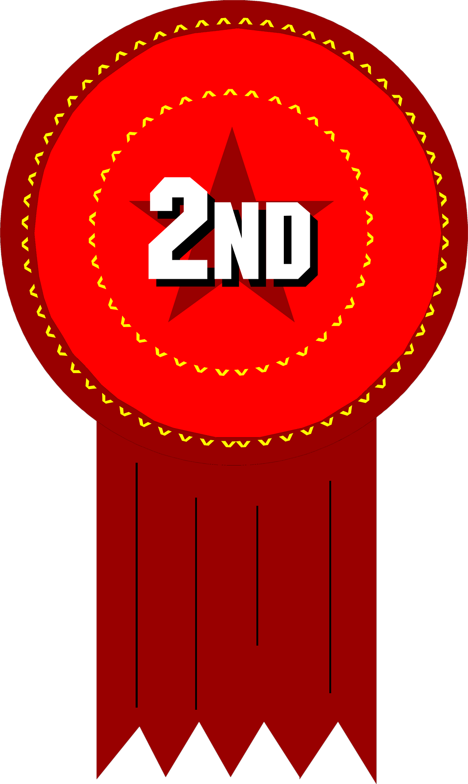 Award   Free Stock Photo   Illustration Of A 2nd Place Ribbon     8249