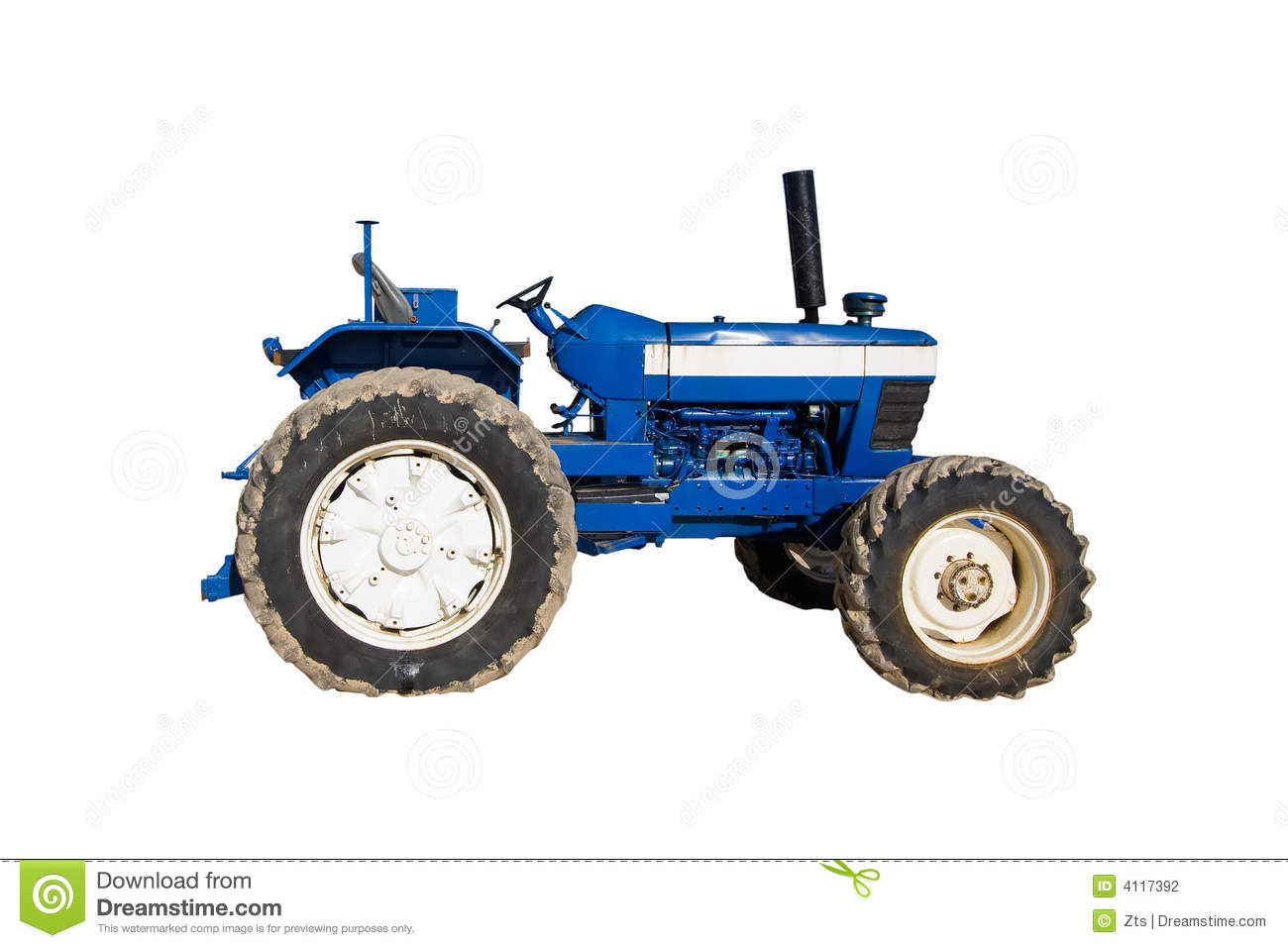 Blue Tractor Clipart Old Blue Tractor Stock