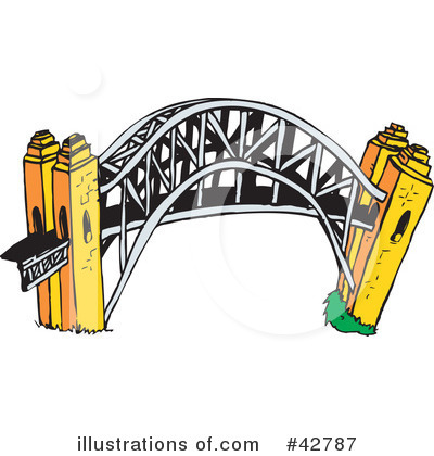 Clip Art Clipart Bridge cartoon bridge clipart kid 42787 by dennis holmes designs royalty free rf