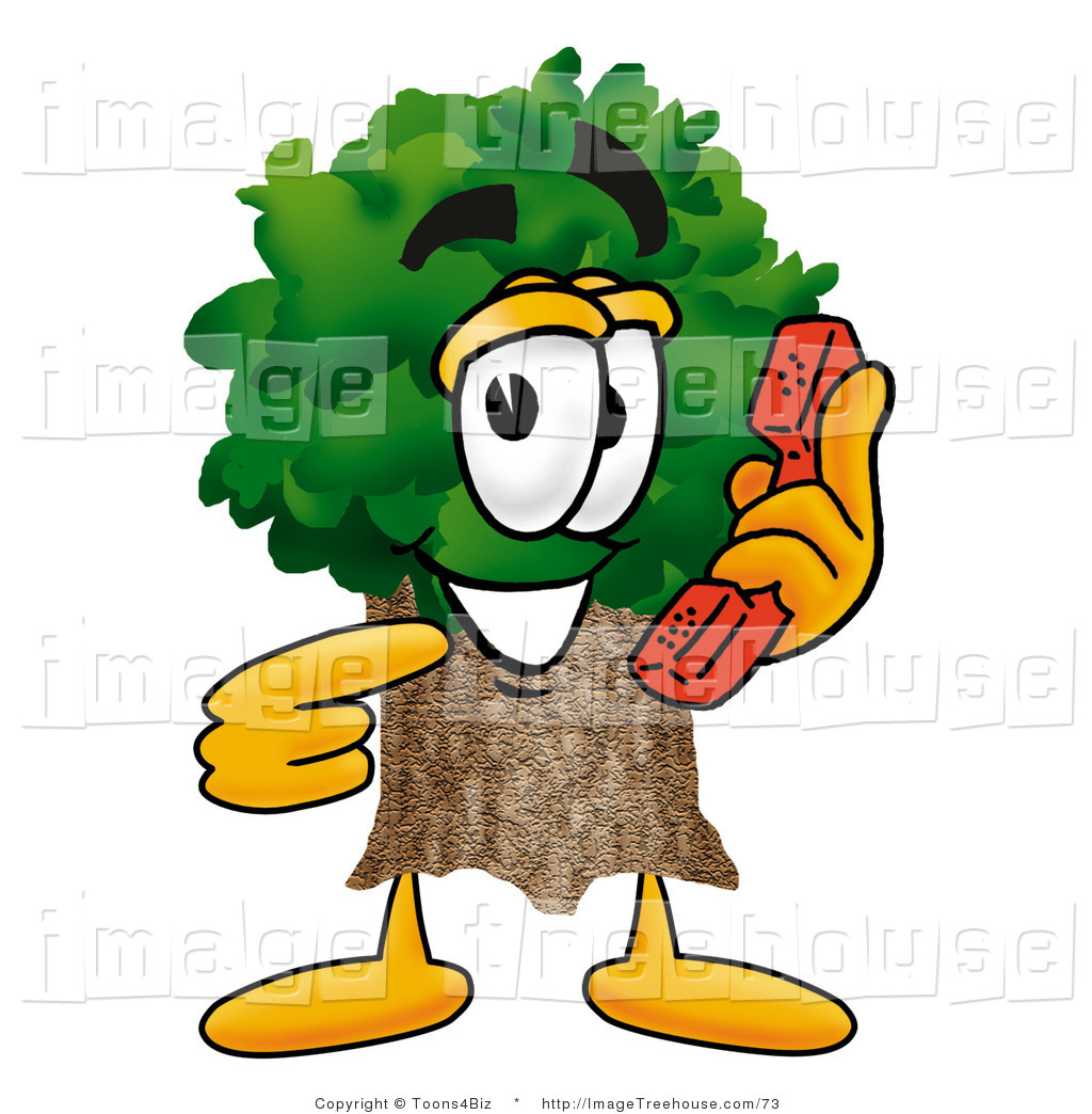 Calling Clipart Clipart Of A Friendly Tree Mascot Cartoon Character