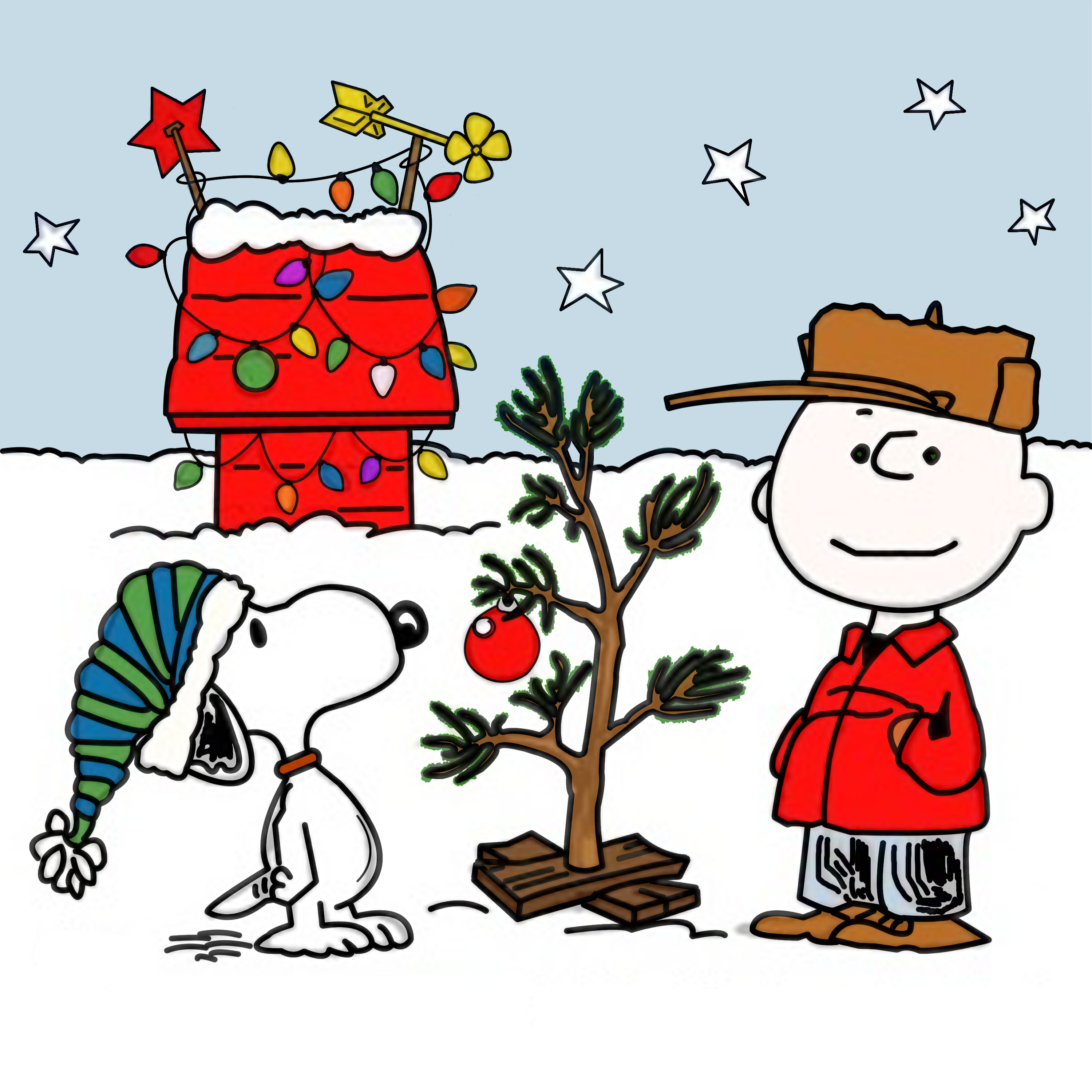 Snoopy And Charlie Brown Christmas Clipart - Clipart Kid