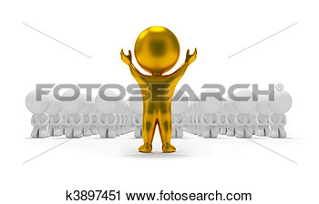 Clipart   3d Small People   Worship An Idol  Fotosearch   Search Clip