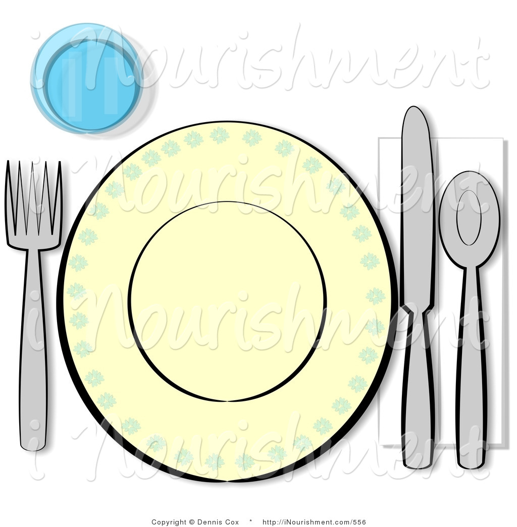 Clipart Of An Informal Single Complete Place Setting By Djart    556