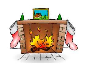Fire Place Clipart Vector Clip Art Online Royalty Free Design