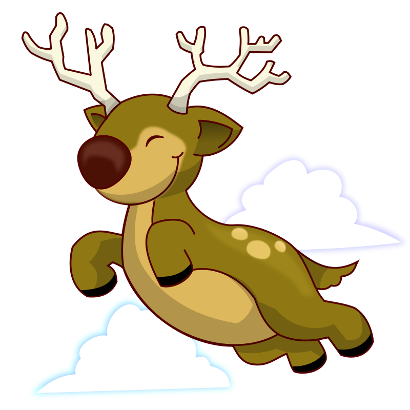 Funny Cartoon Reindeer Clipart