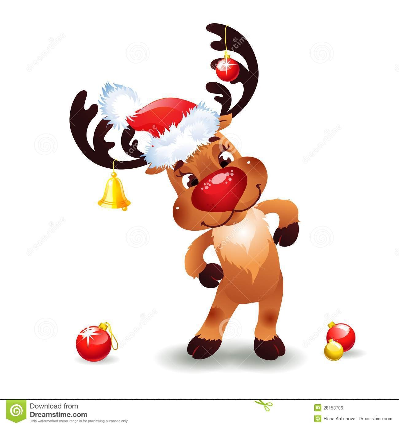 Funny Reindeer Christmas Royalty Free Stock Image   Image  28153706