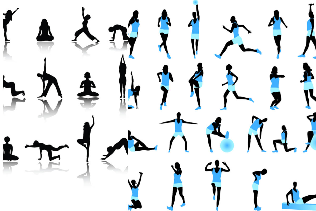 Fitness Silhouette Clipart - Clipart Kid
