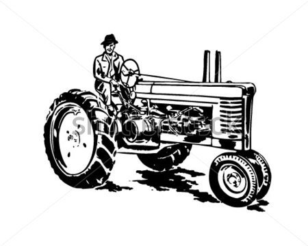 Old Tractor Clip Art Car Tuning