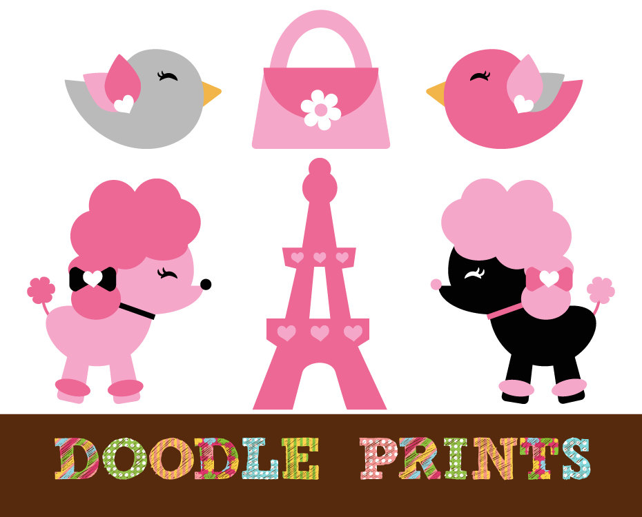Paris Poodle Clipart - Clipart Kid