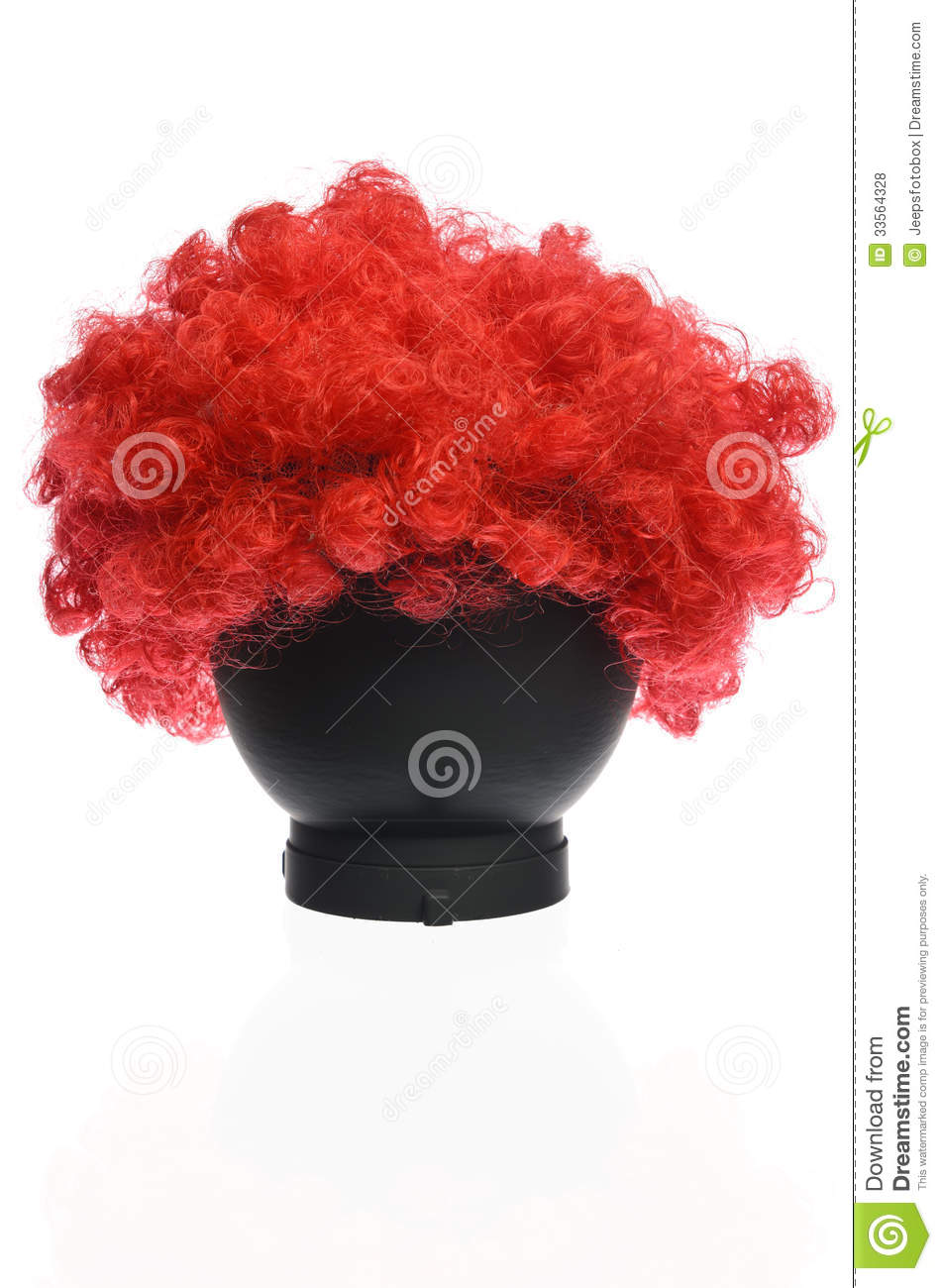 Red Curly Clown Wig Royalty Free Stock Photos   Image  33564328