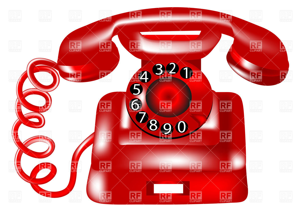 Red Rotary Dial Telephone Download Royalty Free Vector Clipart  Eps