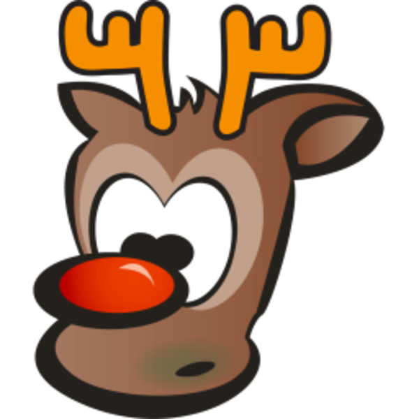 Santa And Reindeer Clip Art Vector Online Royalty Free Funny