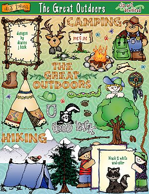 The Great Outdoors Clip Art Download   Outdoor Fun Clipart   Pinterest