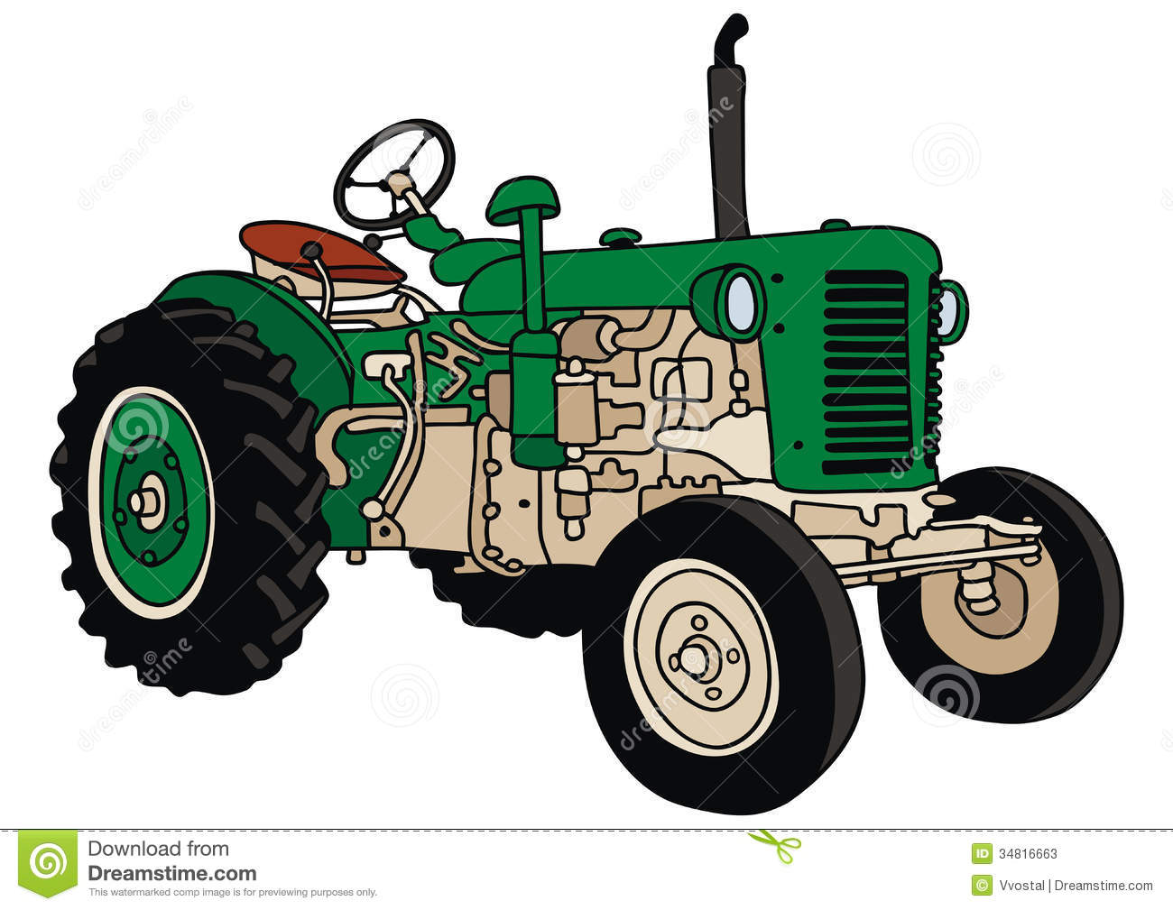 Old Tractor Clip Art : Old tractor clipart suggest