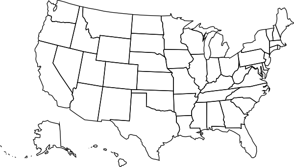 Usa Political Map Clip Art