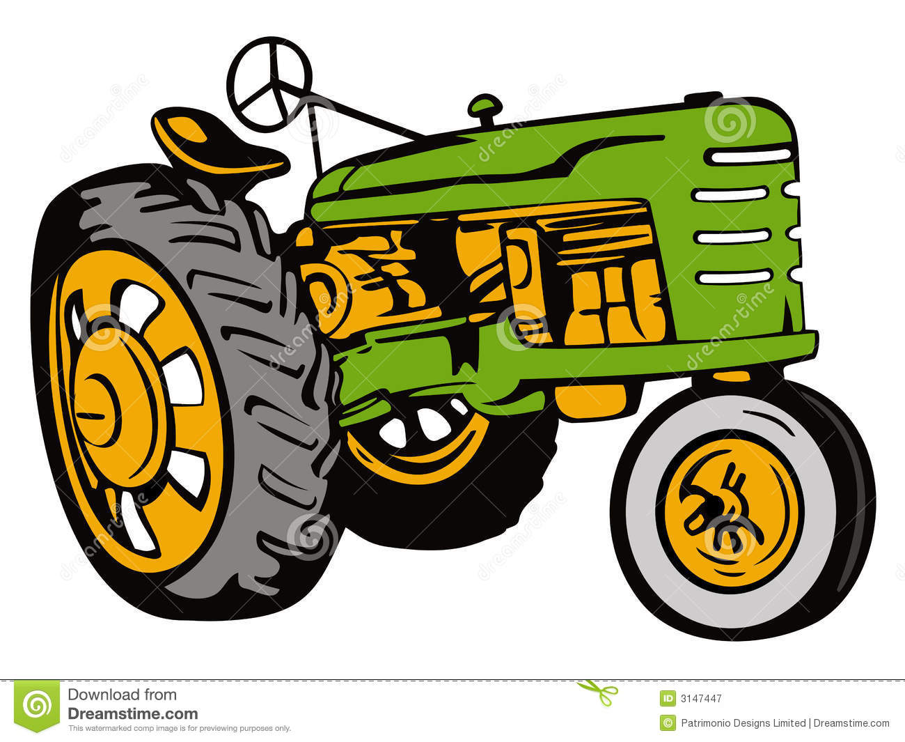 Vintage Tractor Green Editorial Photography   Image  3147447