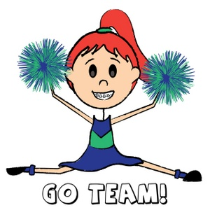 Art Images Cheerleader Stock Photos   Clipart Cheerleader Pictures