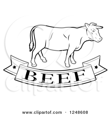 Beef Black And White Clipart - Clipart Kid