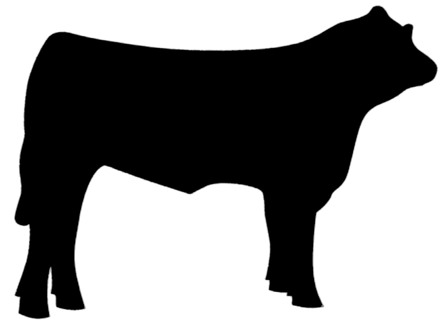 Black cow head clipart - photo#8