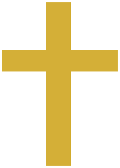 Gold Cross with Angel Wings PNG Clip Art Image