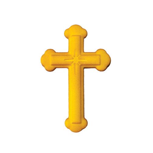 Gold cross vector by polygraphus - Image #3156066 - VectorStock