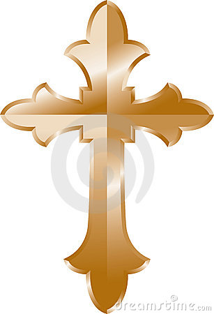Gold Cross Royalty Free Stock Image   Image  20333896