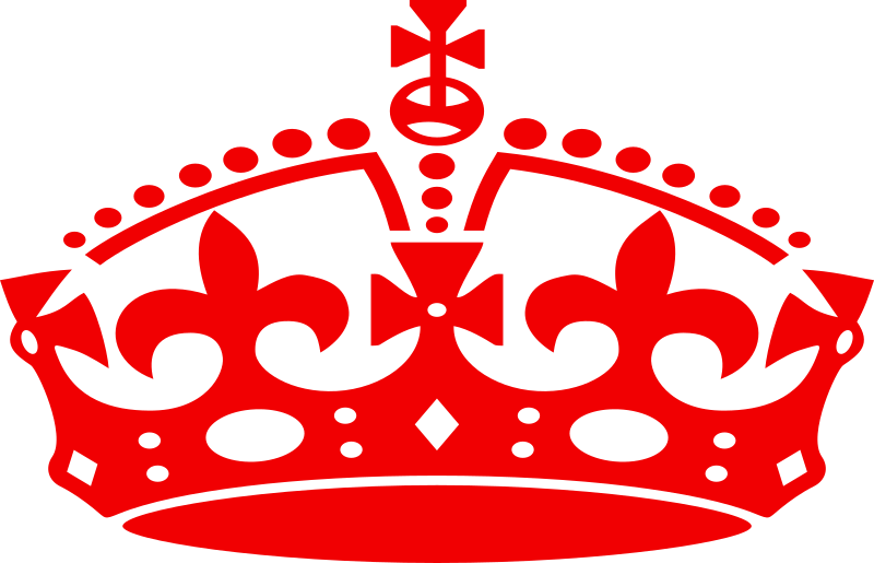 Jubilee Crown Red By Mr Johnnyp   Silhouette Of A Crown