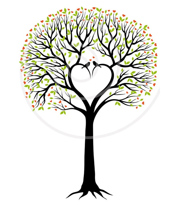 Love Tree Clip Art For The Cover Of My Record Keeping Journal   5 00