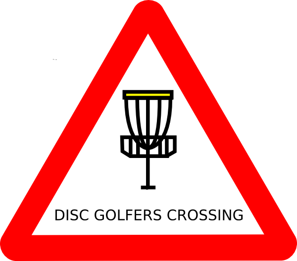 Mat Cutler Disc Golf Roadsign Clip Art At Clker Com   Vector Clip Art