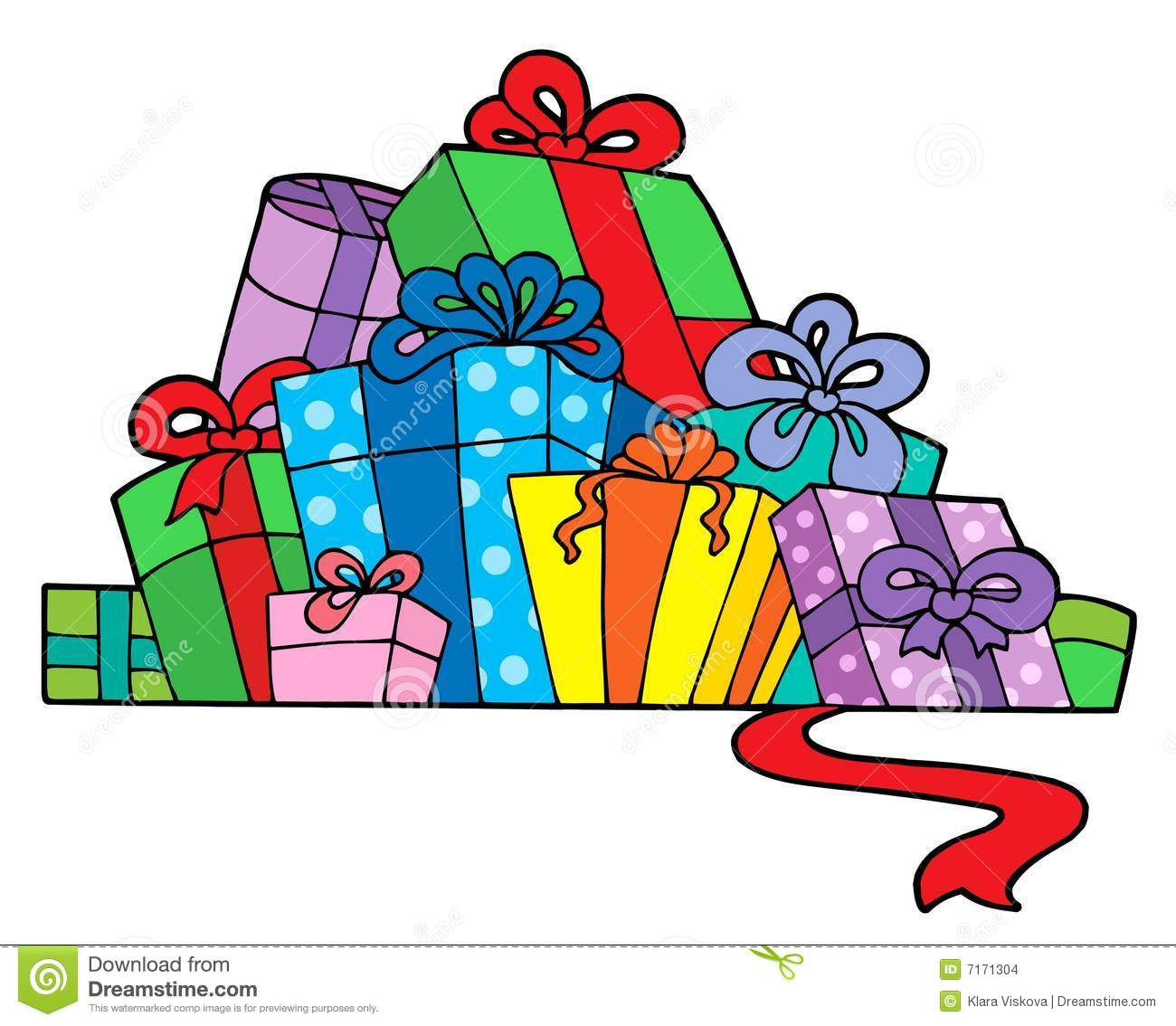 Stack Of Presents Clipart