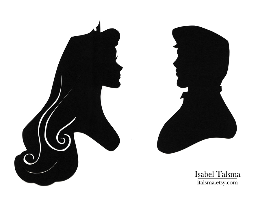 Once Upon A Dream Handcut Paper Silhouettes Of This And That Disney Princess Silhouettes