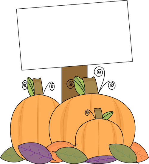 Pumpkin With A Blank Sign Clip Art   Pumpkin With A Blank Sign Image