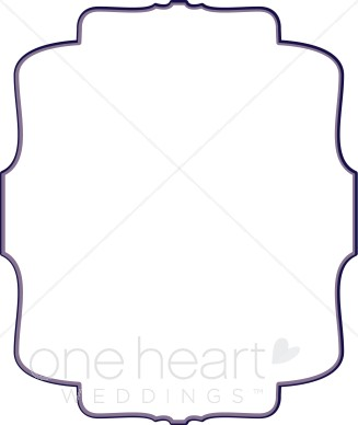 Purple Bracket Clipart Wedding Borders
