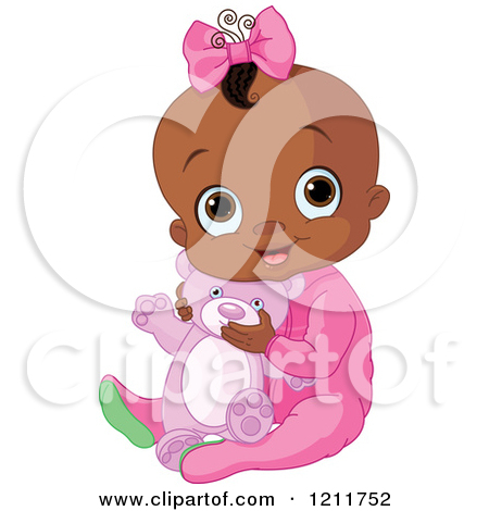 African American Baby Girl Clipart - Clipart Kid