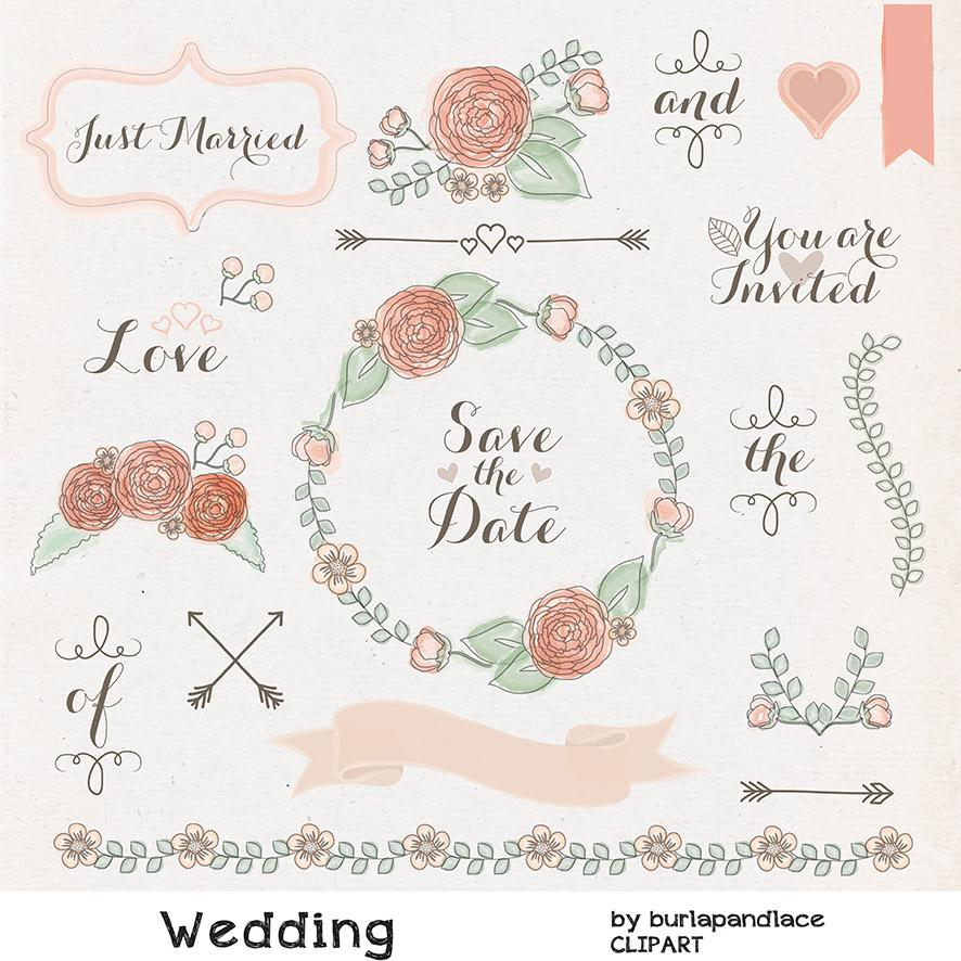 Rustic Wedding Borders Clipart