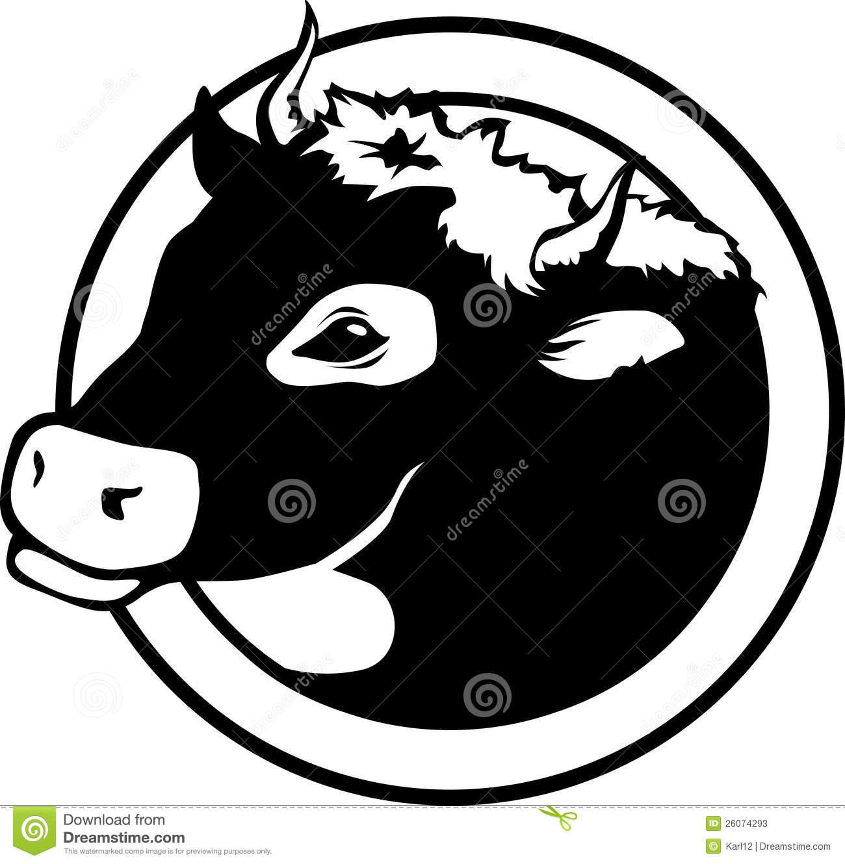 Black cow head clipart - photo#23