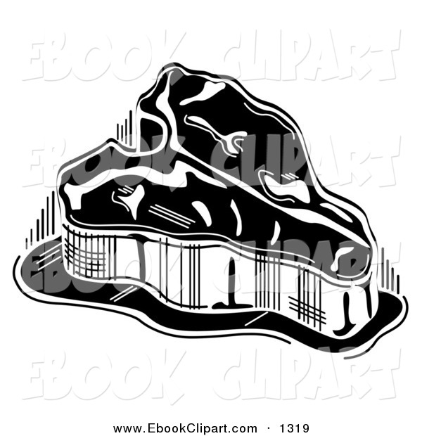 Vector Clip Art Of A Black And White Thick T Bone Steak By Andy