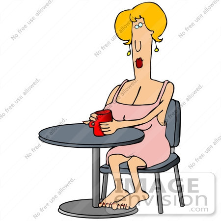 Woman Drinking Coffee Clipart Coffee Table Clipart