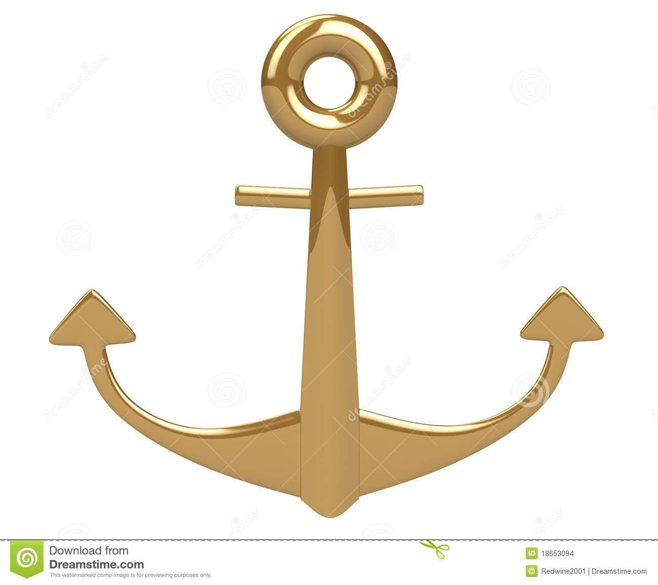 3d gold anchor photo - photo #3