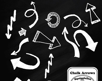 And Other Digital Crafts Set Of 15   Chalk Arrows   Instant Download