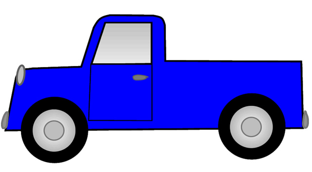 Blue Ute Pickup Truck Sketch Clipart Lg 15 Cm Long   Flickr   Photo