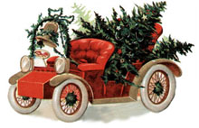 Christmas Clipart  Sleighs And Cars