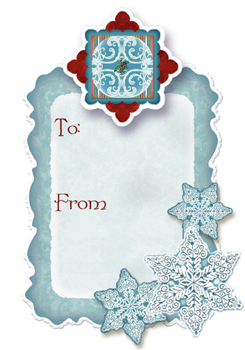 Christmas Gift Tag Freebie Digital Clip Art Crafting Kit By Audrey