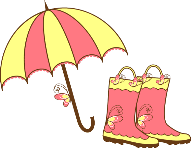 Clip Art Of An Umbrella And Boots     Dixie Allan
