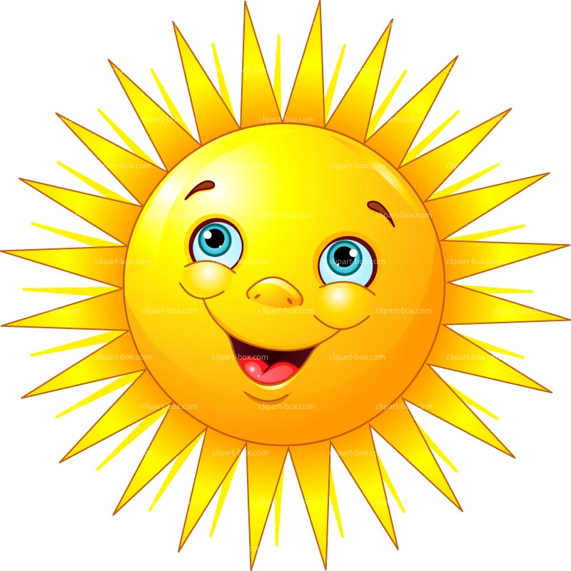 Clipart Smiling Sun   Royalty Free Vector Design