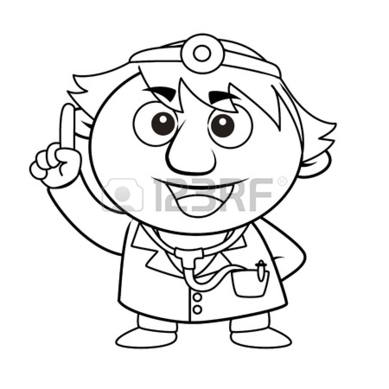 Doctor Tools Clipart Black And White 17750115 Black And White Coloring