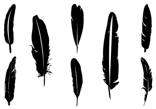 Feather Silhouette Clipart - Clipart Kid
